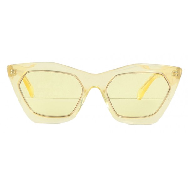 Emilio Pucci - Yellow and Gold Cat-Eye Sunglasses - 46592174OS - Sunglasses - Emilio Pucci Eyewear