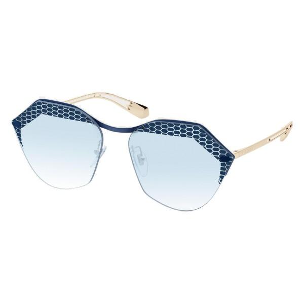 Bulgari - Serpenteyes Reverse - Occhiali da Sole Serpenti - Blu - Serpenti Collection - Occhiali da Sole - Bulgari Eyewear