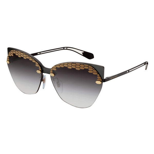 Bulgari - Scalesbeat - Serpenti Sunglasses - Black - Serpenti Collection - Sunglasses - Bulgari Eyewear