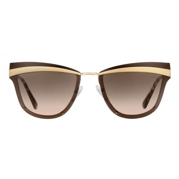 Prada - Prada Cinéma - Occhiali a Gatto in Oro Pallido Sabbiato - Prada Cinéma Collection - Occhiali da Sole - Prada Eyewear