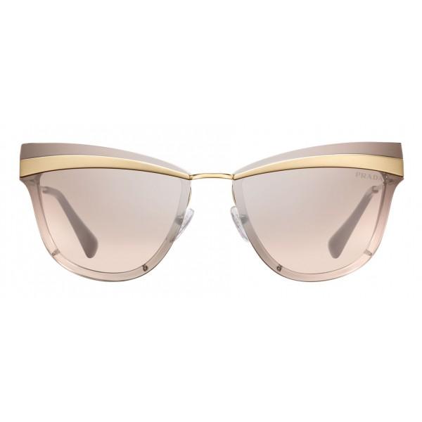 Prada - Prada Cinéma - Occhiali a Gatto in Oro Pallido Rosa - Prada Cinéma Collection - Occhiali da Sole - Prada Eyewear