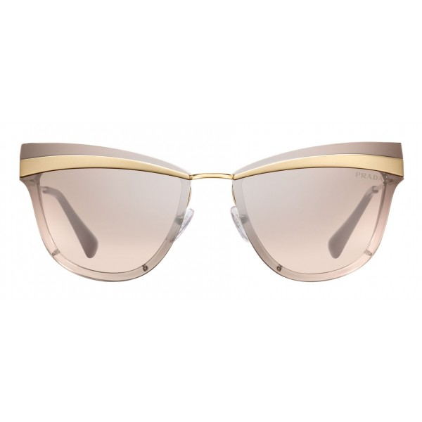 Prada - Prada Cinéma - Pale Rose Gold Sand Cat Eye Sunglasses - Prada Cinéma Collection - Sunglasses - Prada Eyewear
