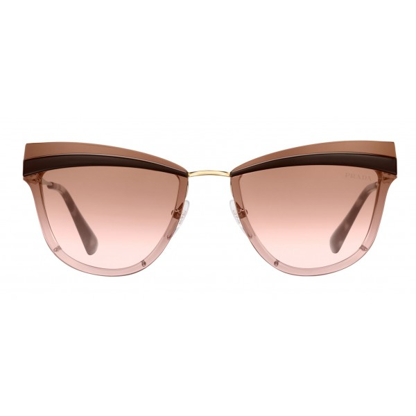 Prada - Prada Cinéma - Cocoa & Pale Gold Cat Eye Sunglasses - Prada Cinéma Collection - Sunglasses - Prada Eyewear