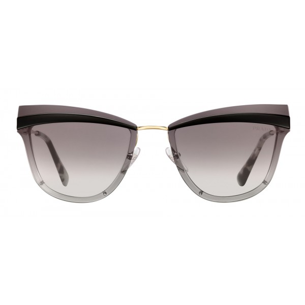 Prada - Prada Cinéma - Occhiali a Gatto in Nero e Oro Pallido - Prada Cinéma Collection - Occhiali da Sole - Prada Eyewear