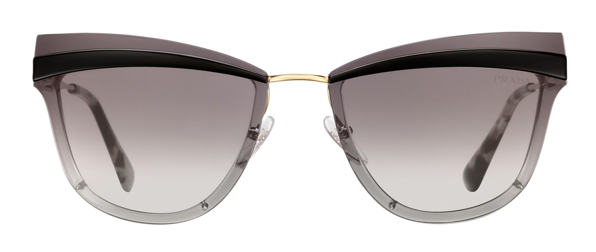 d87f6f2753 Prada - Prada Cinéma - Black   Pale Gold Cat Eye Sunglasses - Prada Cinéma  Collection - Sunglasses - Prada Eyewear