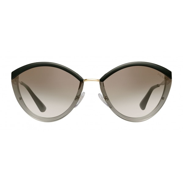 Prada - Prada Cinéma - Gray Crystal Oval Sunglasses - Prada Cinéma Collection - Sunglasses - Prada Eyewear