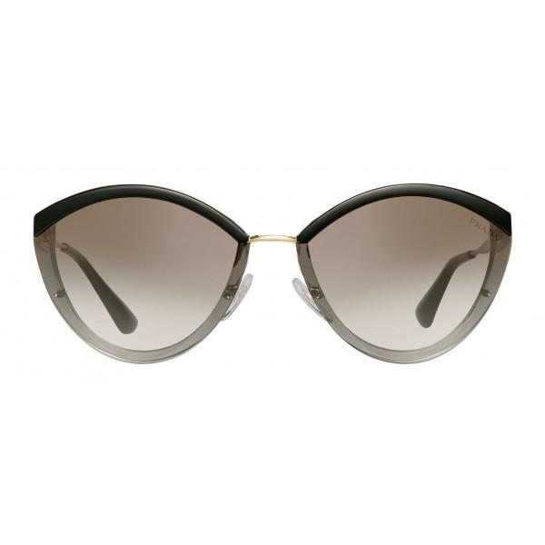 Prada - Prada Cinéma - Occhiali Ovali in Grigio Cristallo - Prada Cinéma Collection - Occhiali da Sole - Prada Eyewear