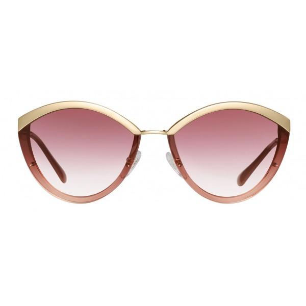Prada - Prada Cinéma - Occhiali Ovali in Rosa Cristallo - Prada Cinéma Collection - Occhiali da Sole - Prada Eyewear