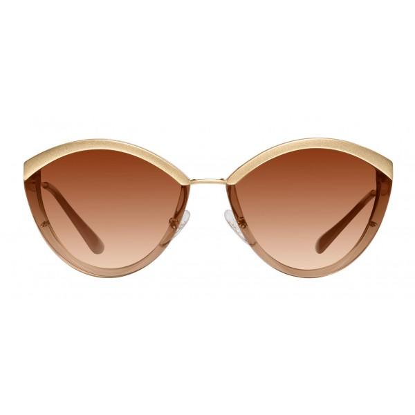 Prada - Prada Cinéma - Occhiali Ovali in Nudo Cristallo - Prada Cinéma Collection - Occhiali da Sole - Prada Eyewear