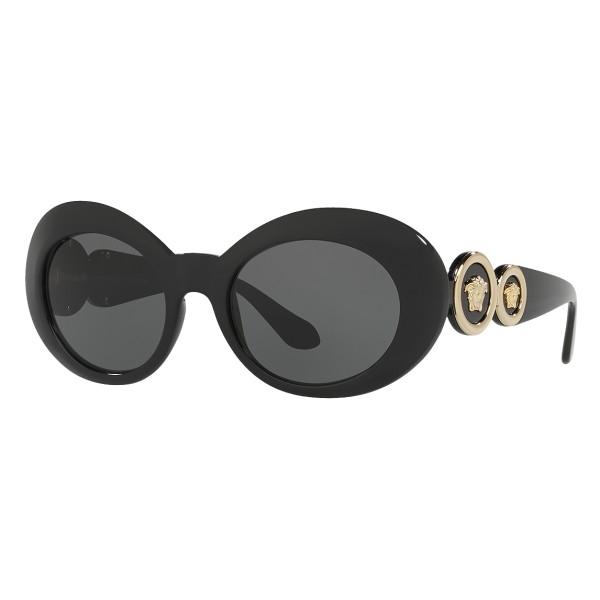 Versace - Occhiale da Sole Versace Medusa 69 Ovali - Neri - Occhiali da Sole - Versace Eyewear