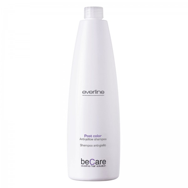 Everline - Hair Solution - Glossy Color - Anti Yellow Shampoo - BeCare - 1000 ml