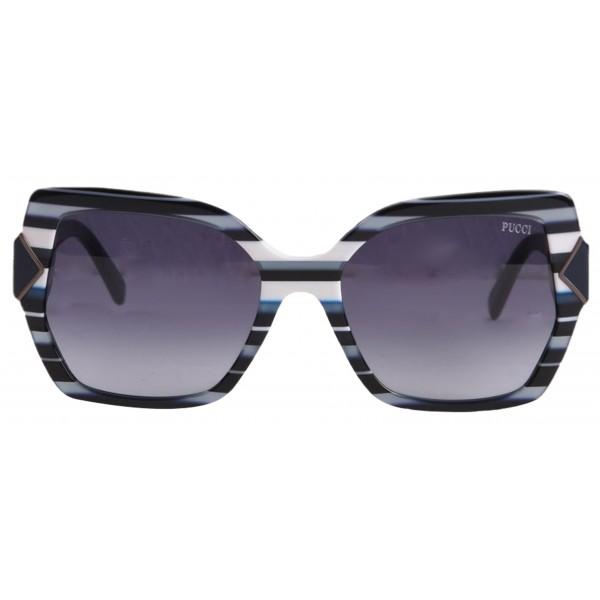 Emilio Pucci - Blue Square Sunglasses - 46549537VR - Sunglasses - Emilio Pucci Eyewear