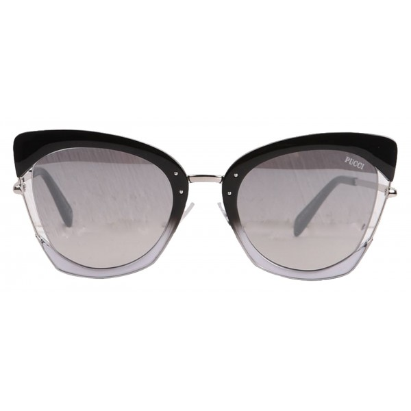 Emilio Pucci - Grey Cat-Eye Sunglasses - 46549544EA - Sunglasses - Emilio Pucci Eyewear