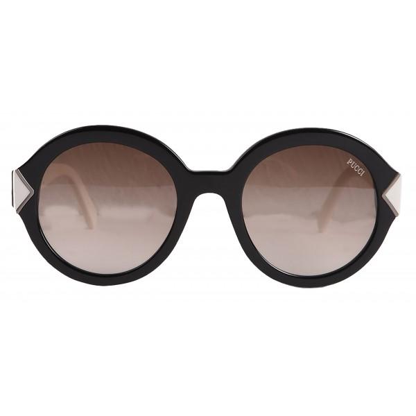 Emilio Pucci - Black Round Sunglasses - 46549546RU - Sunglasses - Emilio Pucci Eyewear