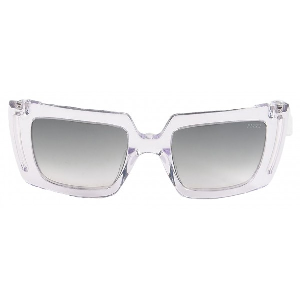 Emilio Pucci - Transparent Square Sunglasses - 46549549BB - Sunglasses - Emilio Pucci Eyewear