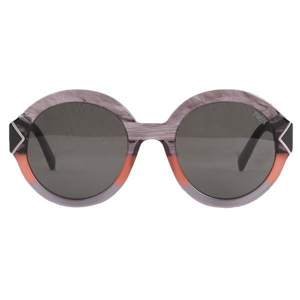 Emilio Pucci - Grey Round Sunglasses - 46549553QU - Sunglasses - Emilio Pucci Eyewear