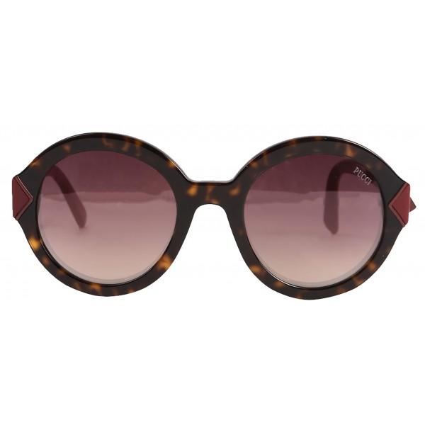 Emilio Pucci - Havana Round Sunglasses - 46549554AI - Sunglasses - Emilio Pucci Eyewear