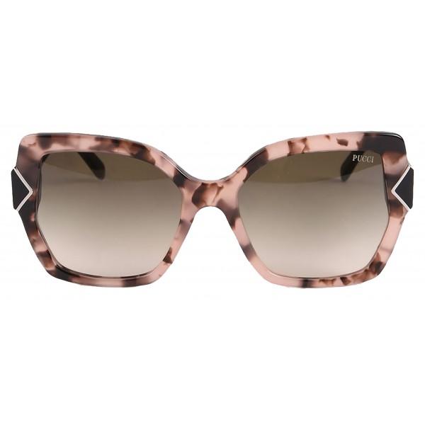 Emilio Pucci - Occhiali da Sole Quadrati Havana - 46549557IV - Occhiali da Sole - Emilio Pucci Eyewear