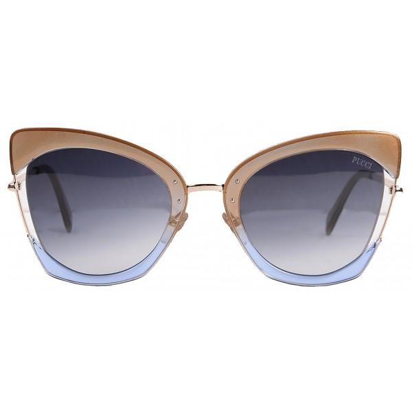 Emilio Pucci - Occhiali da Sole Cat-Eye Rossi e Blu - 46549558OA - Occhiali da Sole - Emilio Pucci Eyewear