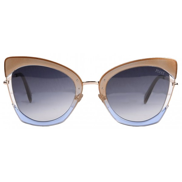 Emilio Pucci - Red and Blue Cat-Eye Sunglasses - 46549558OA - Sunglasses - Emilio Pucci Eyewear