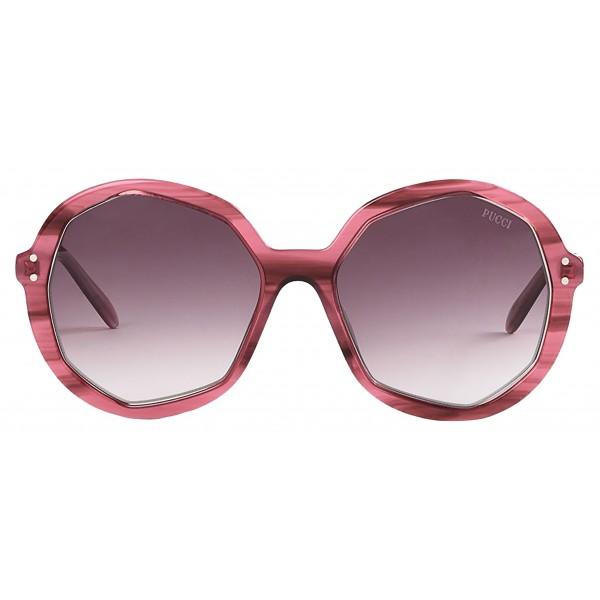 Emilio Pucci - Grey Round Sunglasses - 46576916GQ - Sunglasses - Emilio Pucci Eyewear