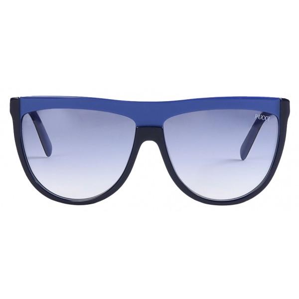 Emilio Pucci - Occhiali da Sole Maschera Blu - 46576920AV - Occhiali da Sole - Emilio Pucci Eyewear