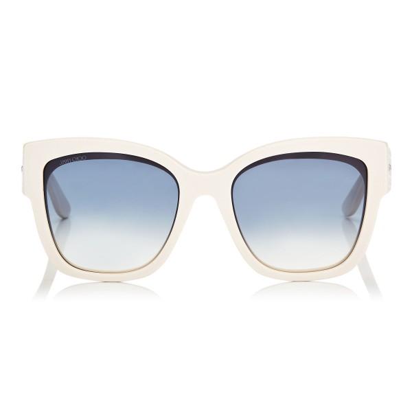 Jimmy Choo - Roxie - Occhiali da Sole Oversize Avorio con Dettaglio a Stella - Occhiali da Sole - Jimmy Choo Eyewear