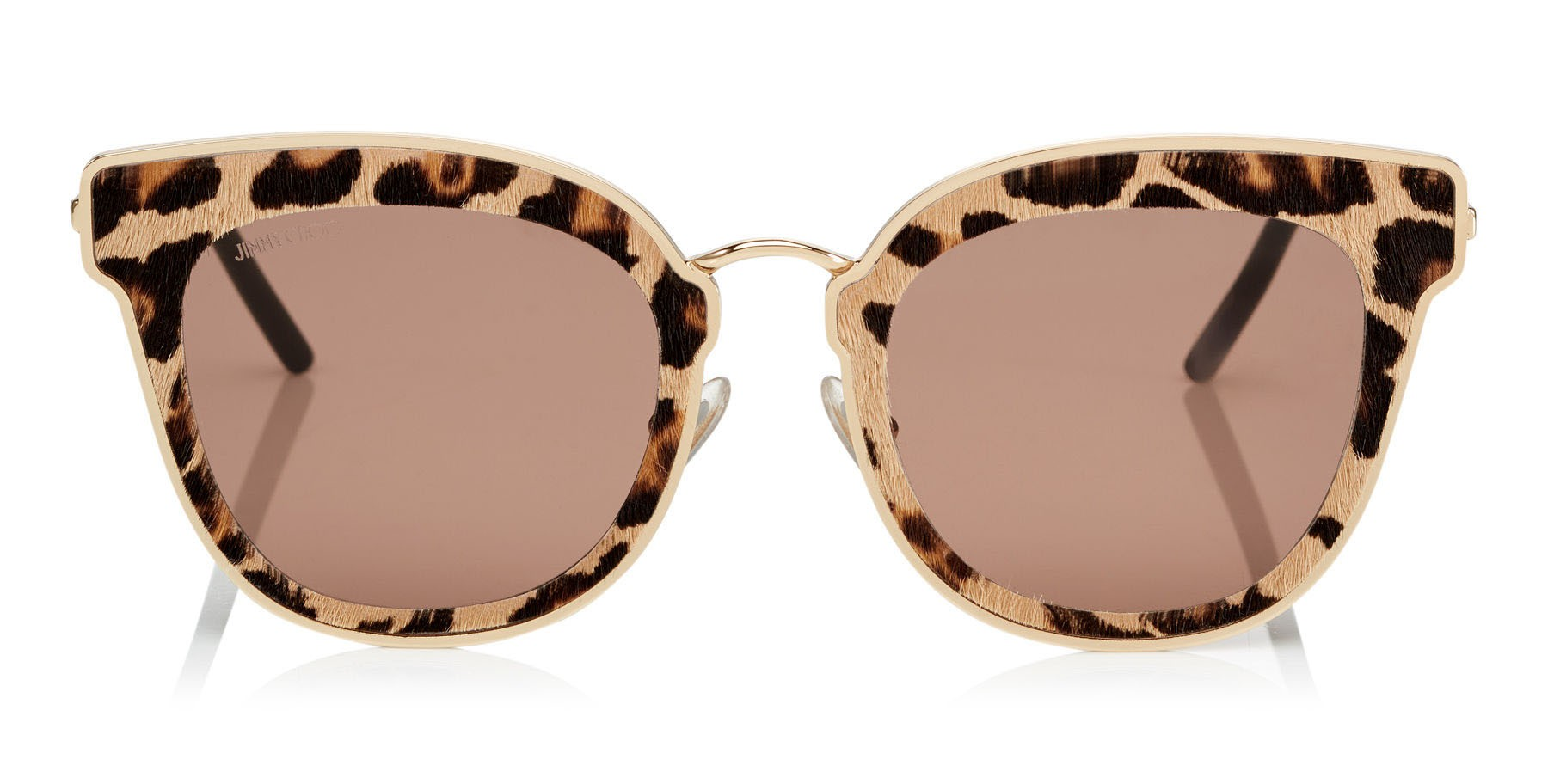 6682eb0fa1e7 Jimmy Choo - Nile - Rose Gold Metal Cat-Eye Sunglasses with Leopard Leather  Detailing - Sunglasses - Jimmy Choo Eyewear