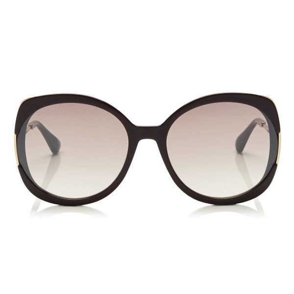 Jimmy Choo - Lila - Plum Square Frame Sunglasses - Sunglasses - Jimmy Choo Eyewear