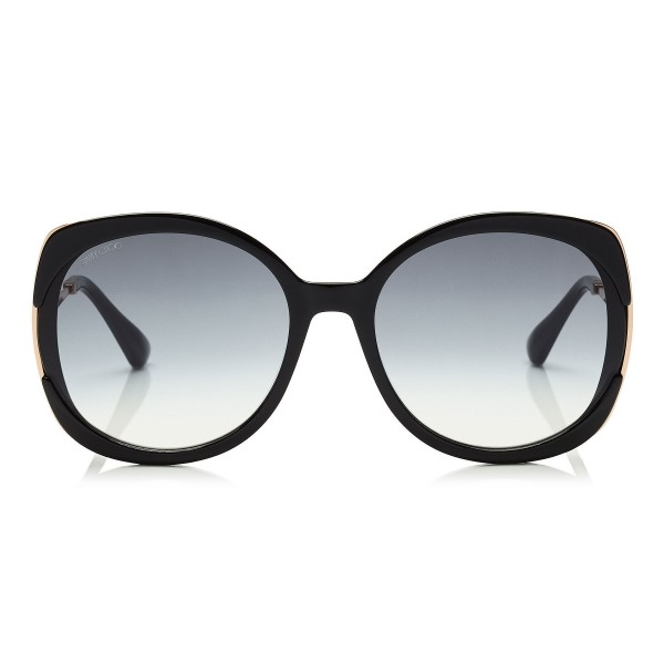 Jimmy Choo - Lila - Black Square Frame Sunglasses - Sunglasses - Jimmy Choo Eyewear