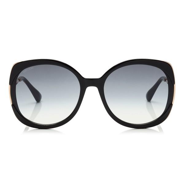 Jimmy Choo - Lila - Black Square Frame Sunglasses - Sunglasses ...