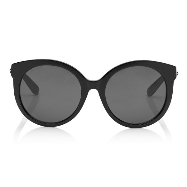 Jimmy Choo - Astar - Black Oversized Sunglasses with Star Stud Detailing - Sunglasses - Jimmy Choo Eyewear
