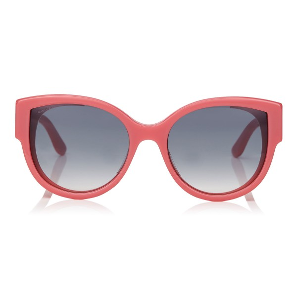 Jimmy Choo - Pollie - Pink Cat-Eye Sunglasses with Star Detailing - Sunglasses - Jimmy Choo Eyewear