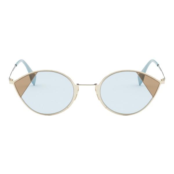 Fendi - Cut-Eye - Gold Cat-Eye Sunglasses - Sunglasses - Fendi Eyewear
