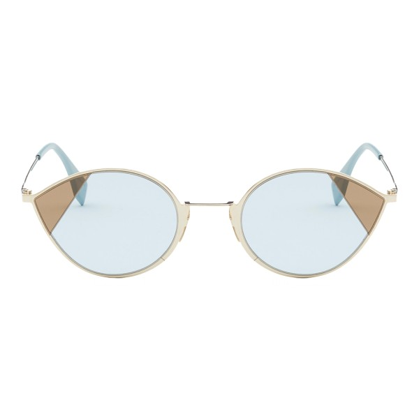 Fendi - Cut-Eye - Occhiali da Sole Cat-Eye Color Oro - Occhiali da Sole - Fendi Eyewear