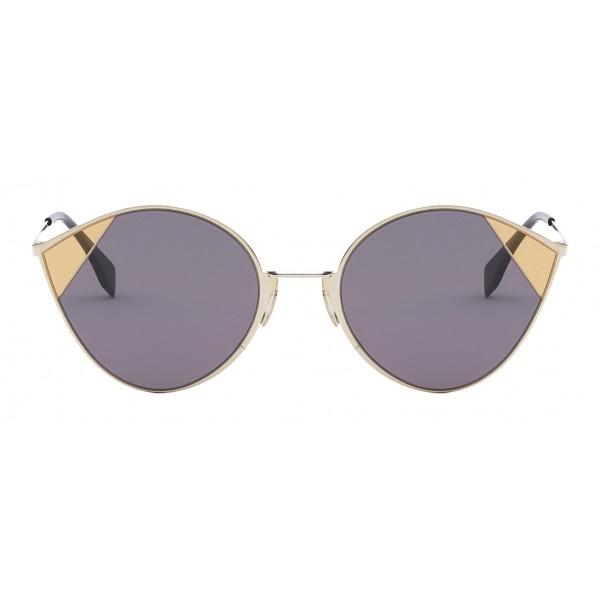 Fendi - Cut-Eye - Gold Cat-Eye Tulip Sunglasses - AI18 Fashion Show - Sunglasses - Fendi Eyewear