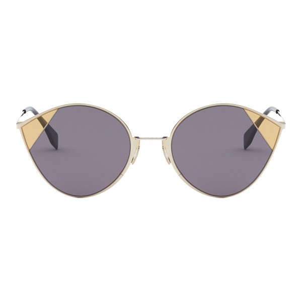 Fendi - Cut-Eye - Occhiali da Sole Cat-Eye Tulip Color Oro - Sfilata AI18 - Occhiali da Sole - Fendi Eyewear