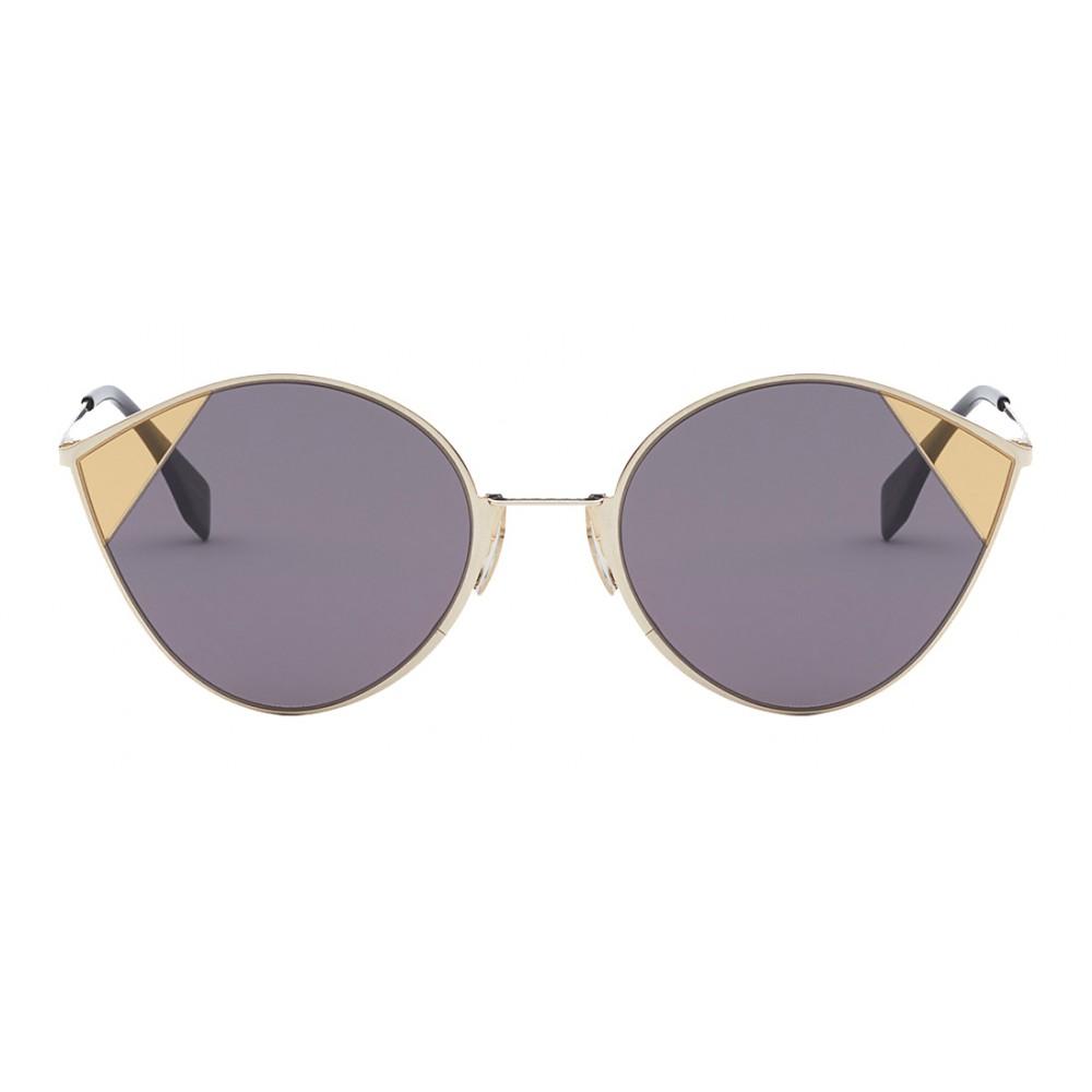 1095cf9395 Fendi - Cut-Eye - Gold Cat-Eye Tulip Sunglasses - AI18 Fashion Show ...