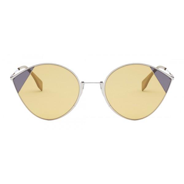 Fendi - Cut-Eye - Silver Cat-Eye Tulip Sunglasses - AI18 Fashion Show - Sunglasses - Fendi Eyewear