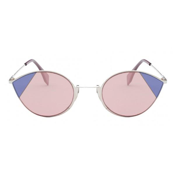 Fendi - Cut-Eye - Pink & Blue Cat-Eye Sunglasses - Sunglasses - Fendi Eyewear