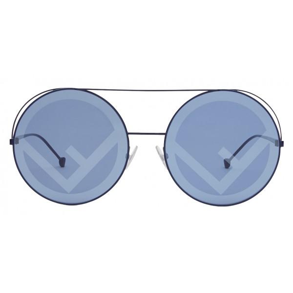 Fendi - Run Away - Blue Oversize Sunglasses - Fashion Week 17 - Sunglasses - Fendi Eyewear