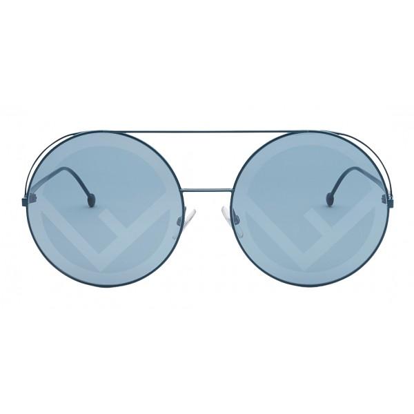Fendi - Run Away - Green Oversize Sunglasses - Sunglasses - Fendi Eyewear