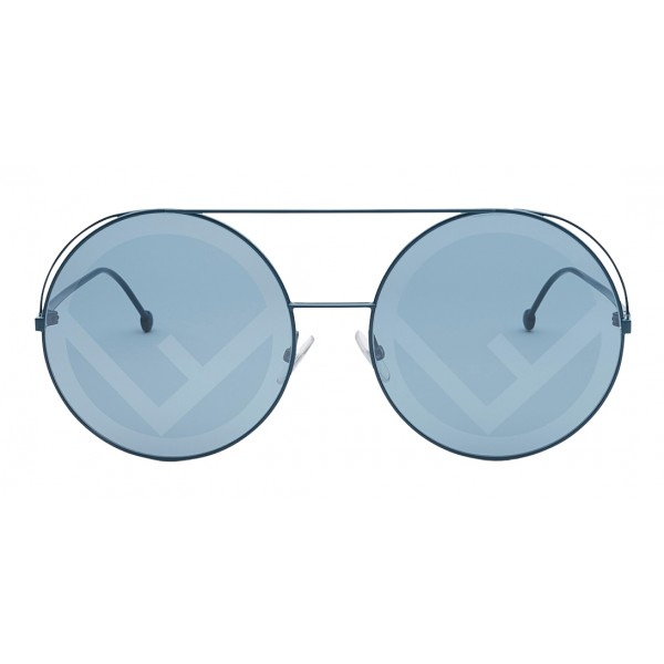 Fendi - Run Away - Occhiali da Sole Oversize Verdi - Occhiali da Sole - Fendi Eyewear