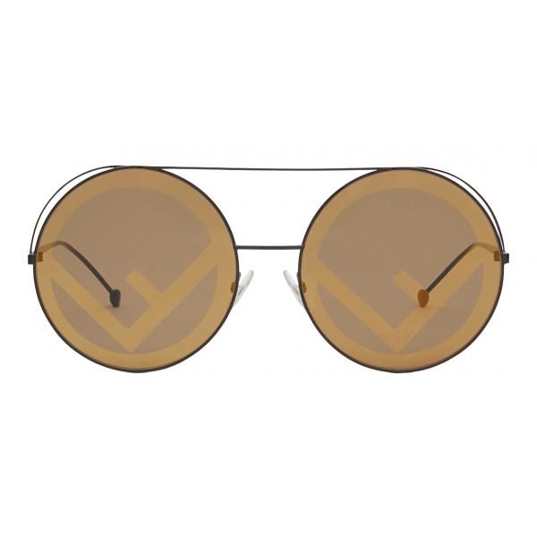 Fendi - Run Away - Brown Oversize Sunglasses - Fashion Week 17 - Sunglasses - Fendi Eyewear