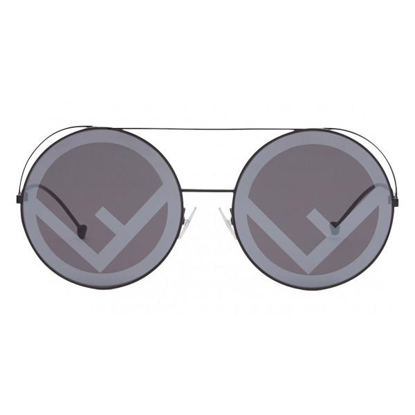Fendi - Run Away - Occhiali da Sole Oversize Neri - Sfilata FW17 - Occhiali da Sole - Fendi Eyewear