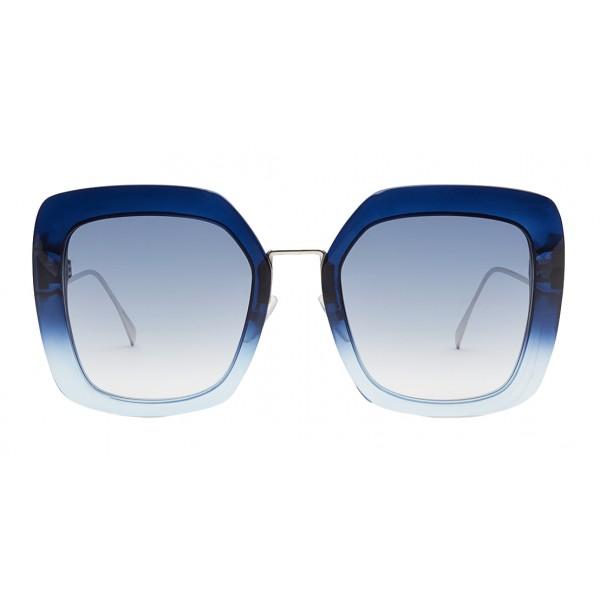 Fendi - Tropical Shine - Blue Oversize Sunglasses - Sunglasses - Fendi Eyewear