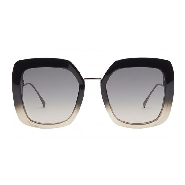Fendi - Tropical Shine - Black & Grey Oversize Sunglasses - Sunglasses - Fendi Eyewear