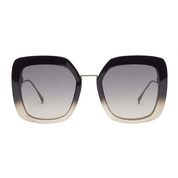 Fendi - Tropical Shine - Occhiali da Sole Oversize Nero e Grigio - Occhiali da Sole - Fendi Eyewear