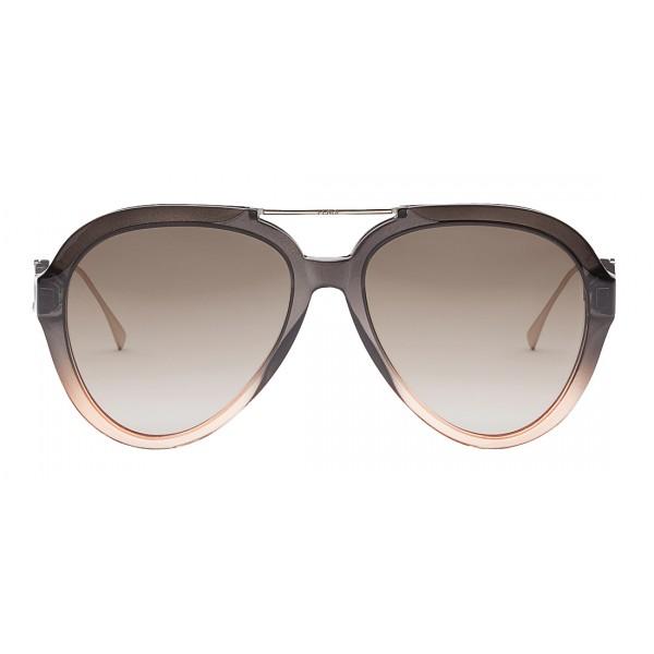 Fendi - Tropical Shine - Grey Aviator Sunglasses - Sunglasses - Fendi Eyewear
