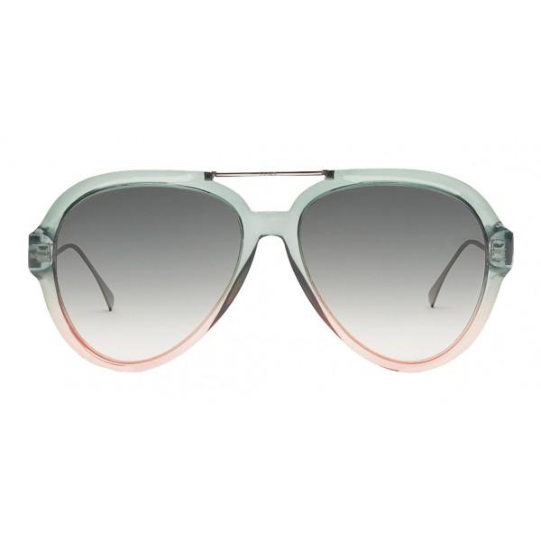 Fendi - Tropical Shine - Green & Pink Aviator Sunglasses - Sunglasses - Fendi Eyewear